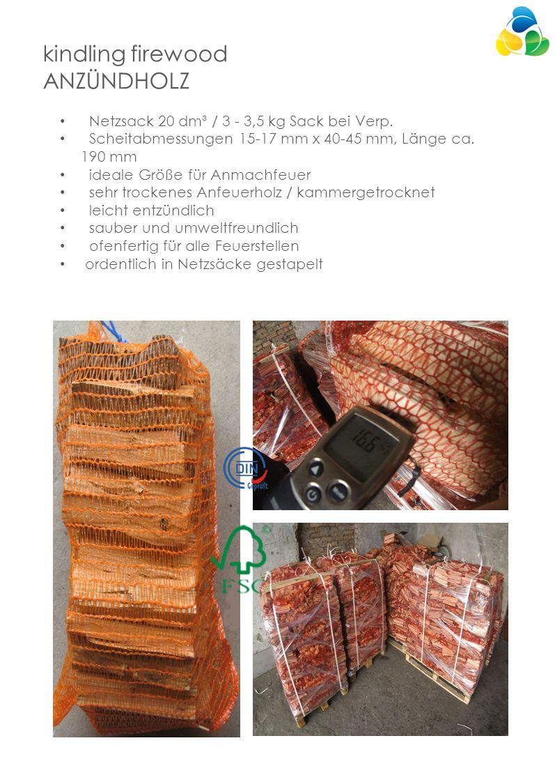kindling firewood ANZÜNDHOLZ Netzsack 20 dm³ / 3 - 3,5 kg Sack bei Verp.