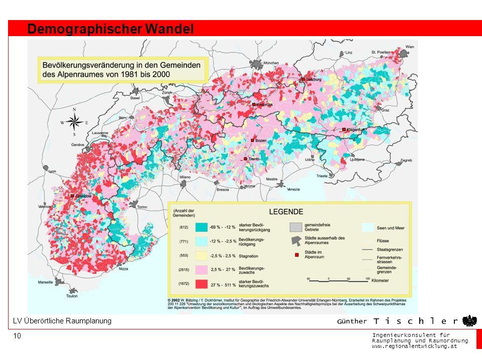 Ingenieurkonsulentfür RaumplanungundRaumordnung www.regionalentwicklung.at 10 LV Überörtliche Raumplanung Demographischer Wandel