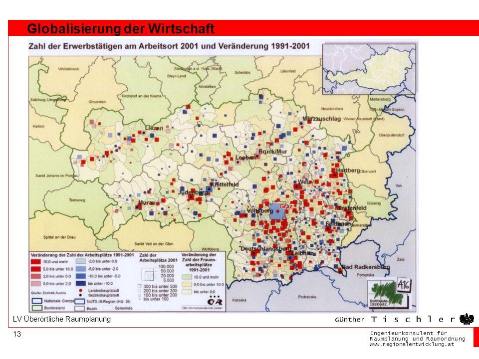 Ingenieurkonsulentfür RaumplanungundRaumordnung www.regionalentwicklung.at 13 LV Überörtliche Raumplanung Globalisierung der Wirtschaft