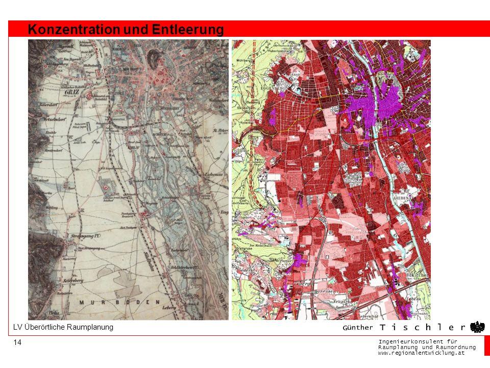 Ingenieurkonsulentfür RaumplanungundRaumordnung www.regionalentwicklung.at 14 LV Überörtliche Raumplanung Konzentration und Entleerung
