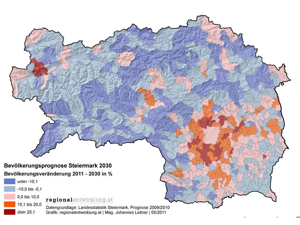 Ingenieurkonsulentfür RaumplanungundRaumordnung www.regionalentwicklung.at 7 LV Überörtliche Raumplanung Demographischer Wandel