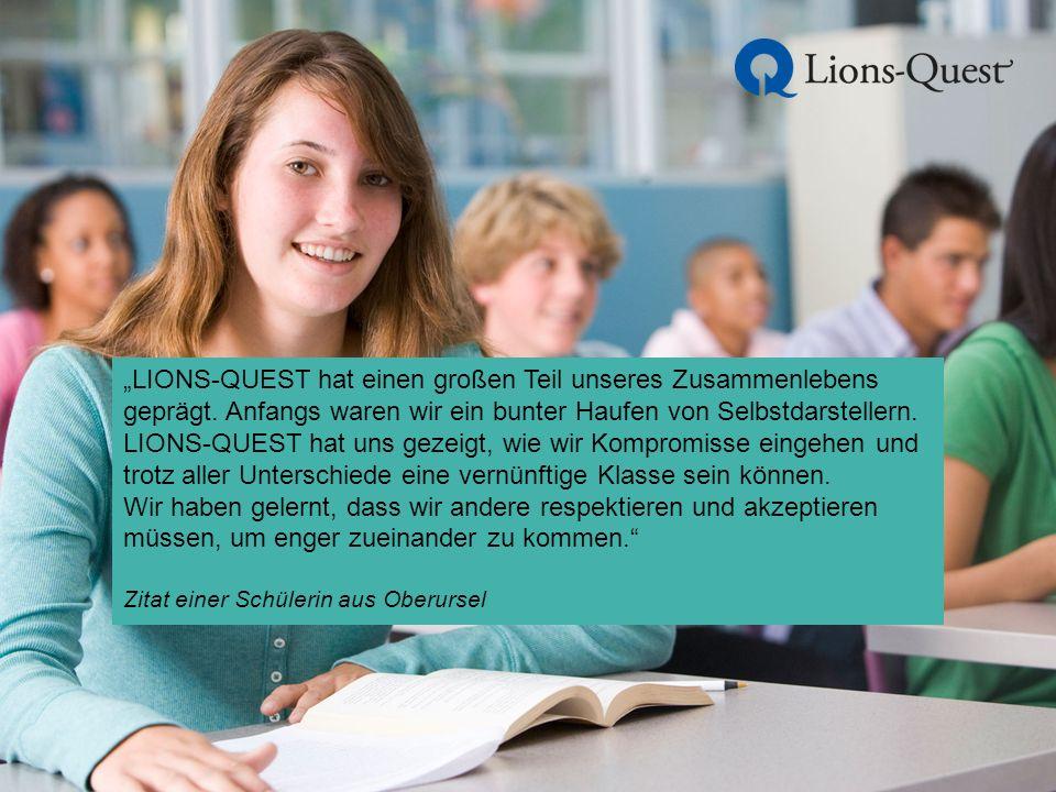 """""""LIONS-QUEST hat einen großen Teil unseres Zusammenlebens geprägt."""