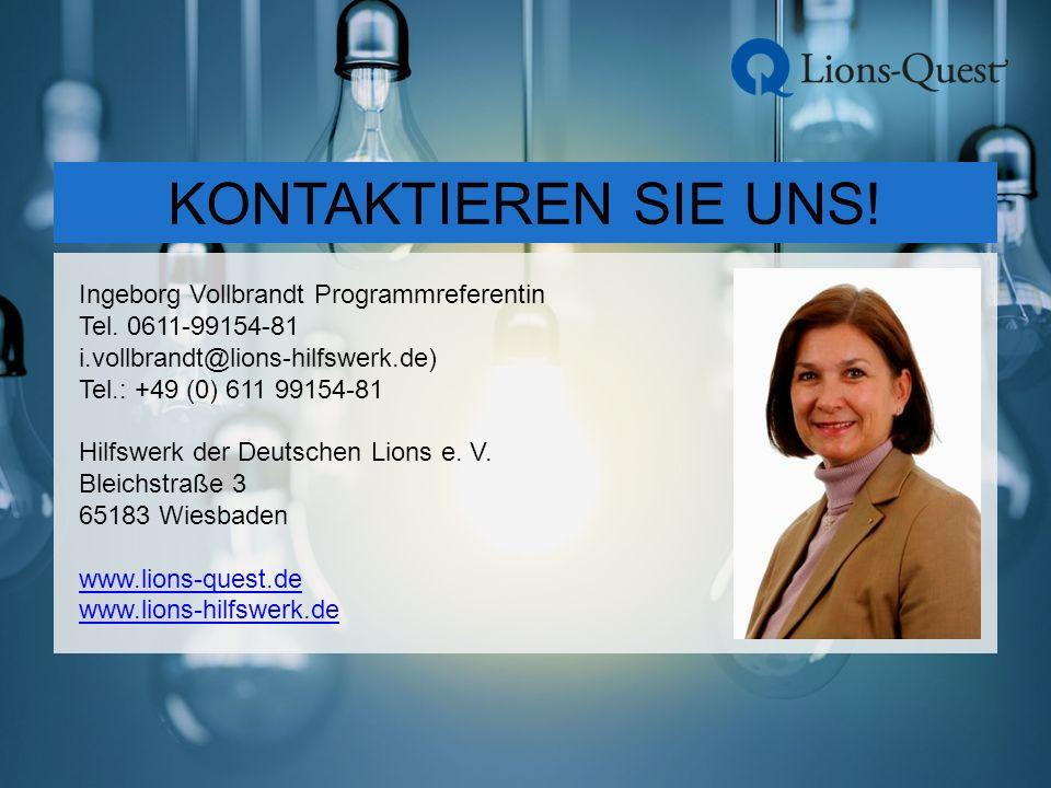 Ingeborg Vollbrandt Programmreferentin Tel.