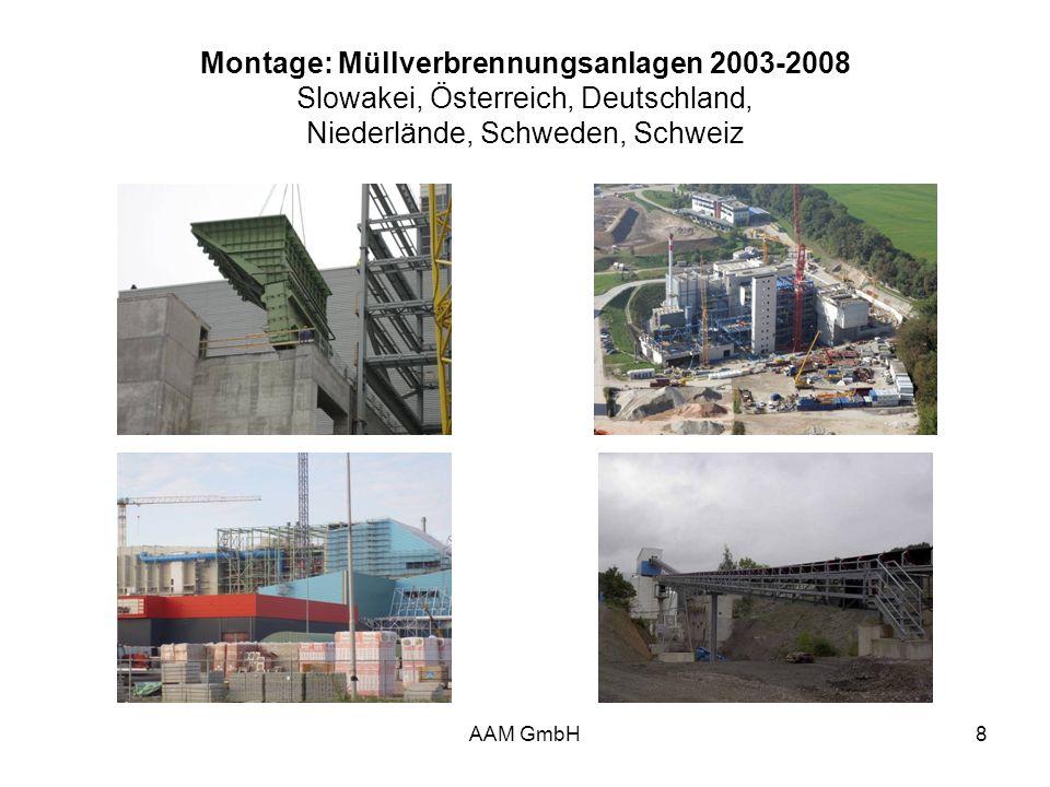 AAM GmbH8 Montage: Müllverbrennungsanlagen 2003-2008 Slowakei, Österreich, Deutschland, Niederlände, Schweden, Schweiz