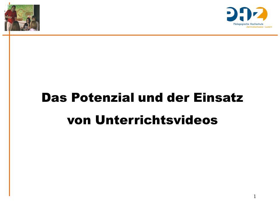 1 Das Potenzial und der Einsatz von Unterrichtsvideos