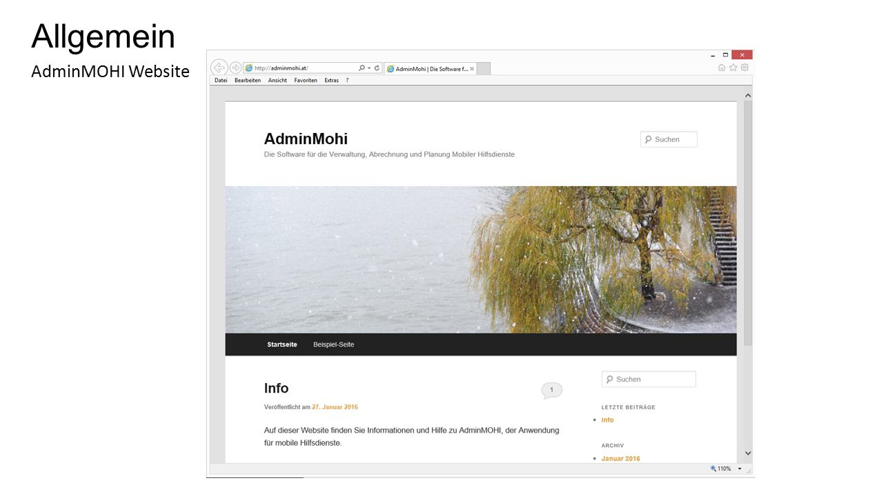 Allgemein AdminMOHI Website