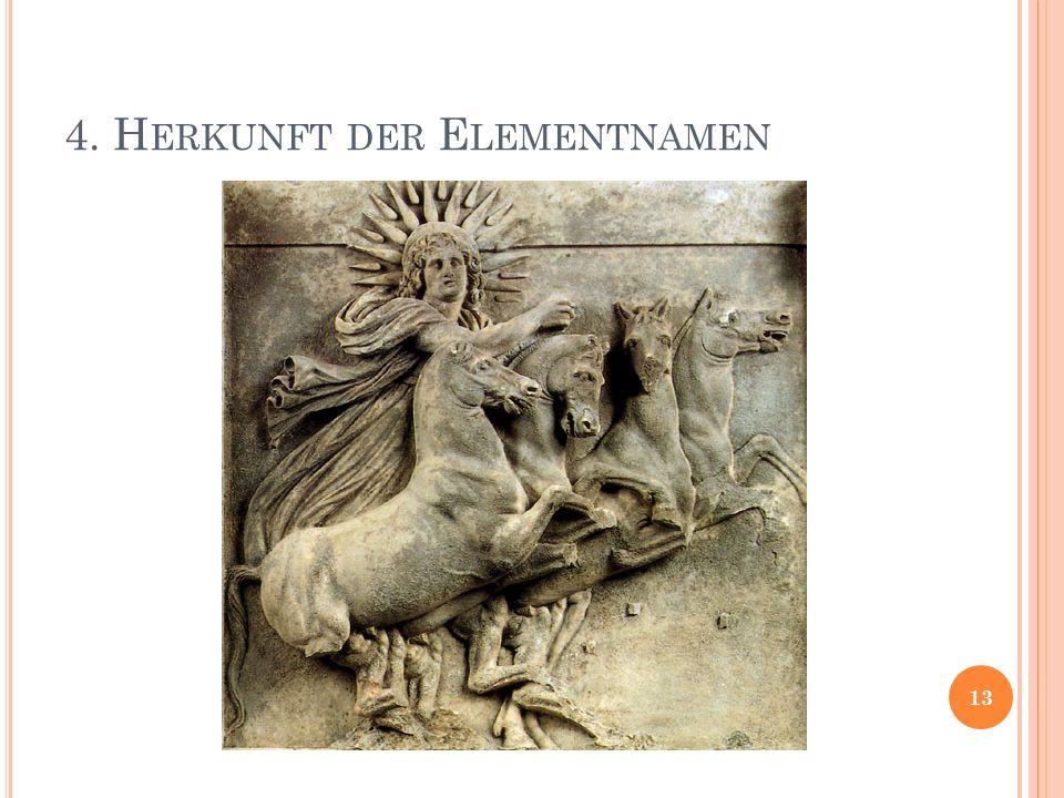 4. H ERKUNFT DER E LEMENTNAMEN 13