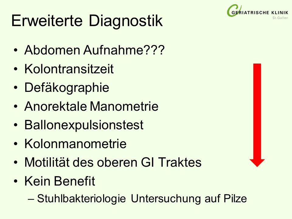 Erweiterte Diagnostik Abdomen Aufnahme??.