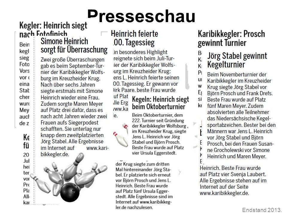 Endstand 2013. Presseschau