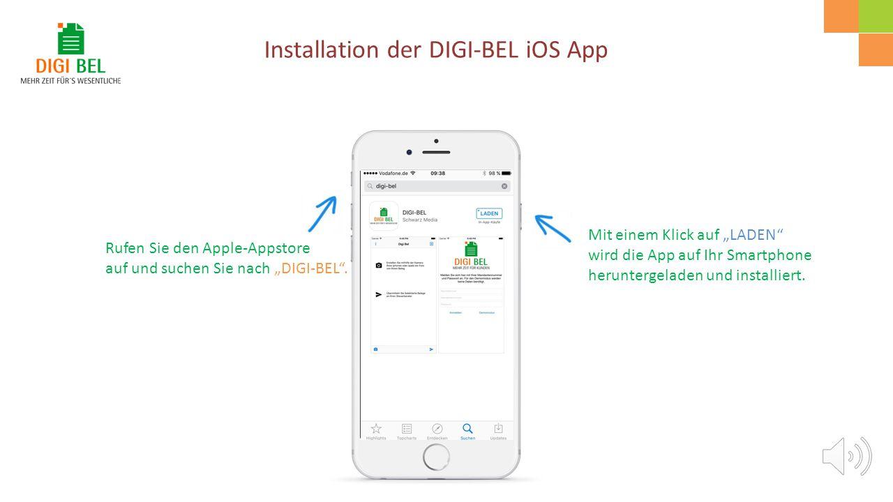 Eine kleine Anleitung für die iOS-App