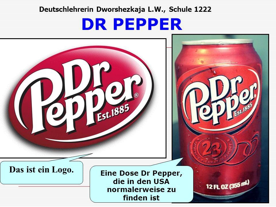 DR PEPPER Das ist ein Logo.