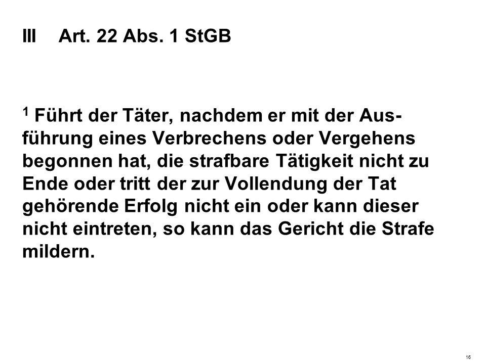 III Art. 22 Abs.