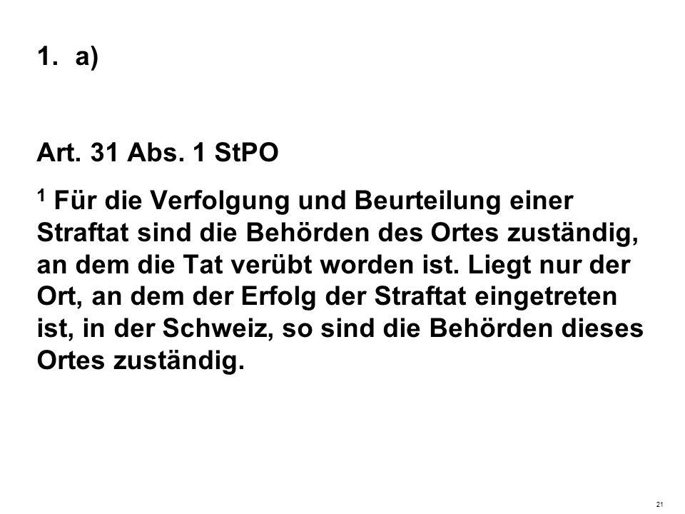 1.a) Art. 31 Abs.