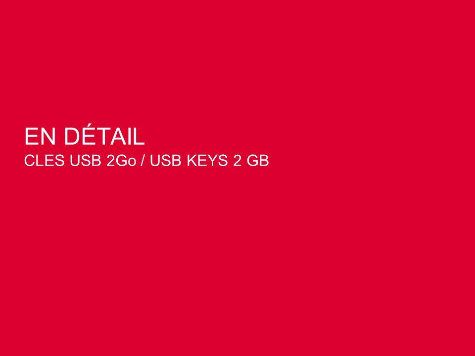 EN DÉTAIL CLES USB 2Go / USB KEYS 2 GB