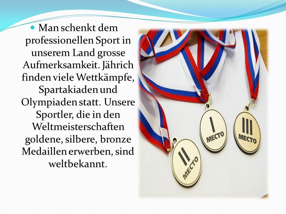 Man schenkt dem professionellen Sport in unserem Land grosse Aufmerksamkeit.