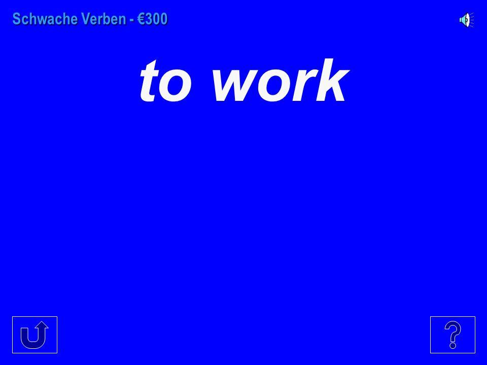 Schwache Verben - €200 to buy