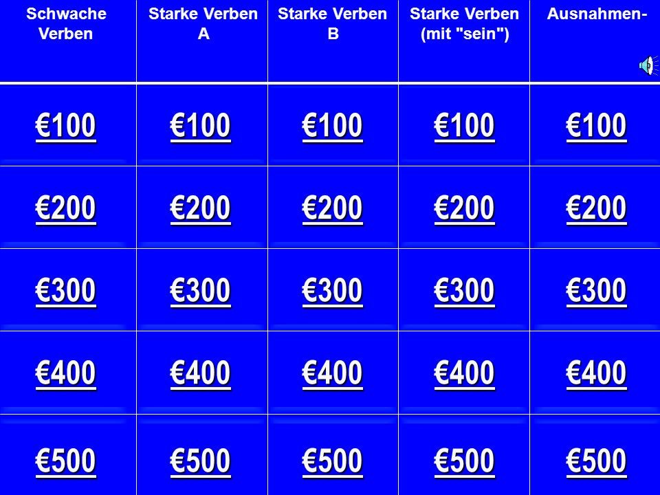 Starke Verben B - €400 to know (a fact)