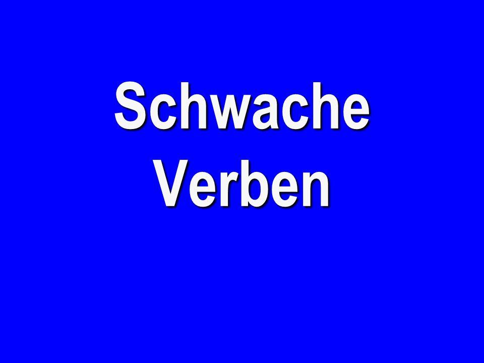 Starke Verben B - €500 to win