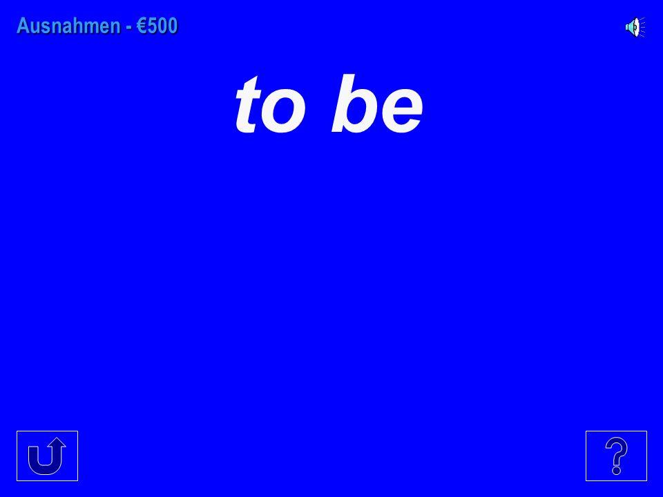 Ausnahmen - €400 to get up