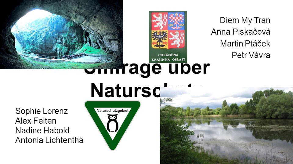 Umfrage über Naturschutz Diem My Tran Anna Piskačová Martin Ptáček Petr Vávra Sophie Lorenz Alex Felten Nadine Habold Antonia Lichtenthäler