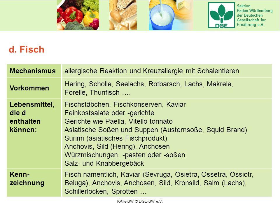 Sektion Baden-Württemberg der Deutschen Gesellschaft für Ernährung e.V. Mechanismusallergische Reaktion und Kreuzallergie mit Schalentieren Vorkommen