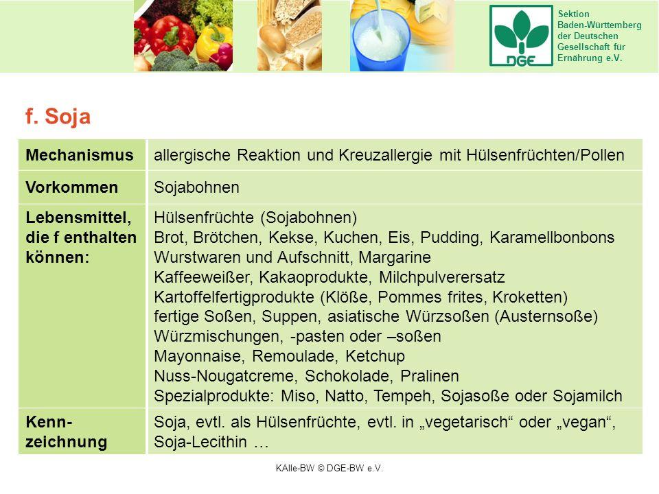 Sektion Baden-Württemberg der Deutschen Gesellschaft für Ernährung e.V. Mechanismusallergische Reaktion und Kreuzallergie mit Hülsenfrüchten/Pollen Vo