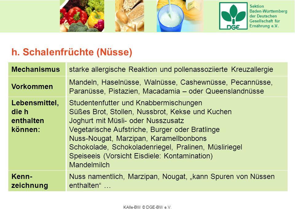 Sektion Baden-Württemberg der Deutschen Gesellschaft für Ernährung e.V. Mechanismusstarke allergische Reaktion und pollenassoziierte Kreuzallergie Vor