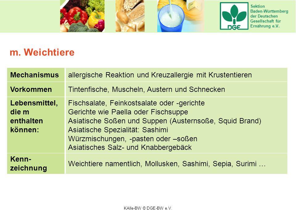 Sektion Baden-Württemberg der Deutschen Gesellschaft für Ernährung e.V. Mechanismusallergische Reaktion und Kreuzallergie mit Krustentieren VorkommenT