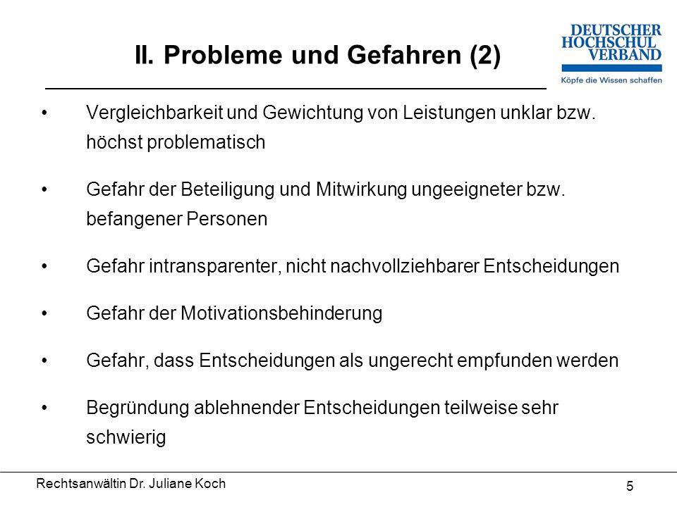 """15 V.Fazit 1. Die Vergabe besonderer Leistungsbezüge ist weiterhin """"terra incognita ."""