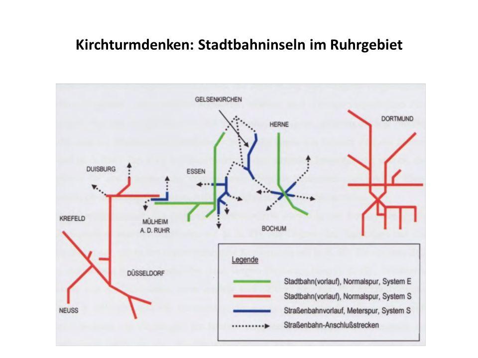Kirchturmdenken: Stadtbahninseln im Ruhrgebiet