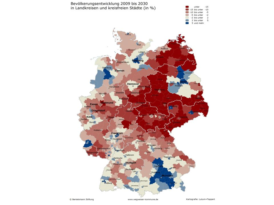 Bevölkerungsentwicklung bis 2030