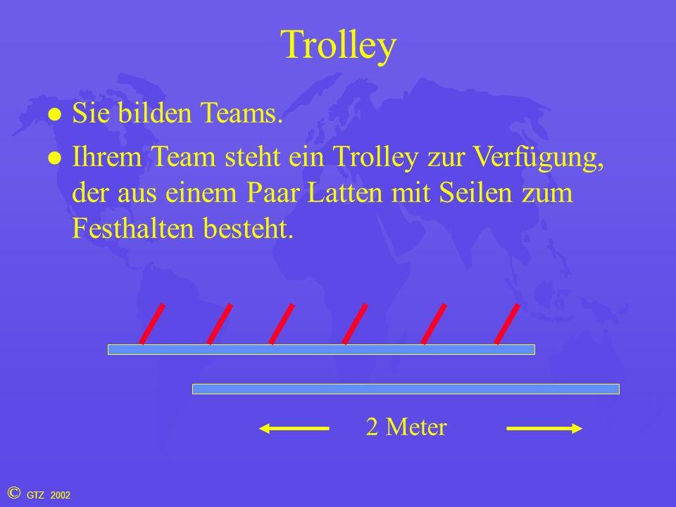 © GTZ 2002 Trolley Sie bilden Teams.