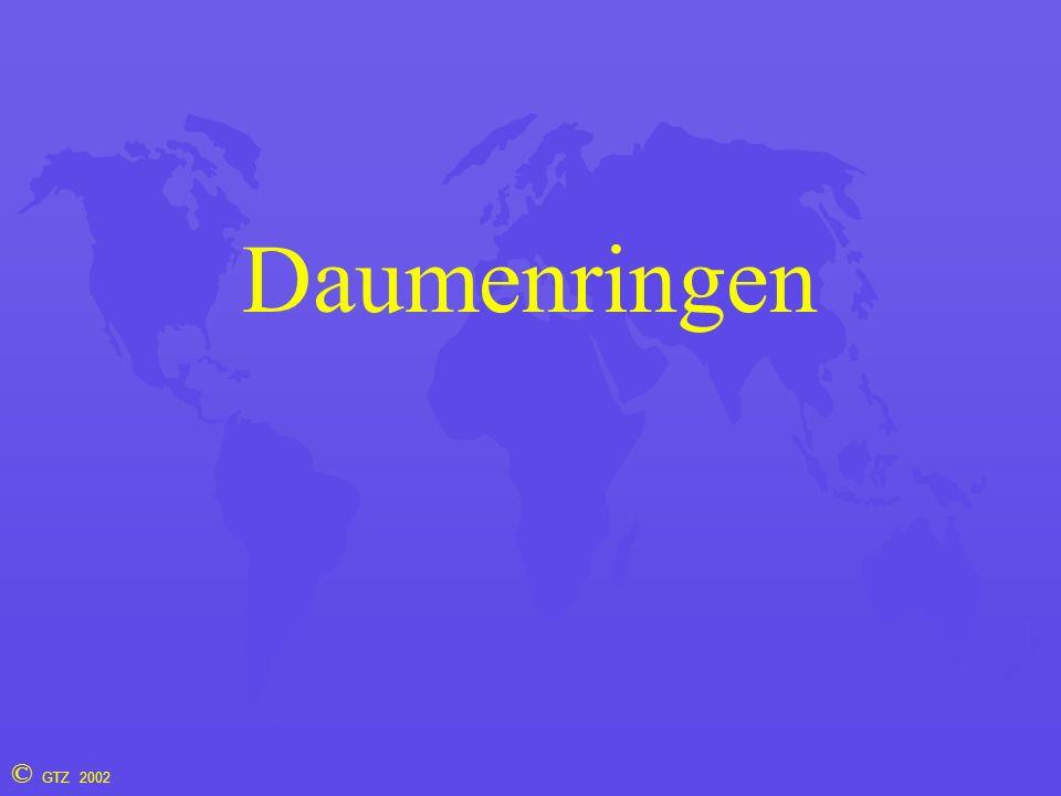 © GTZ 2002 Daumenringen