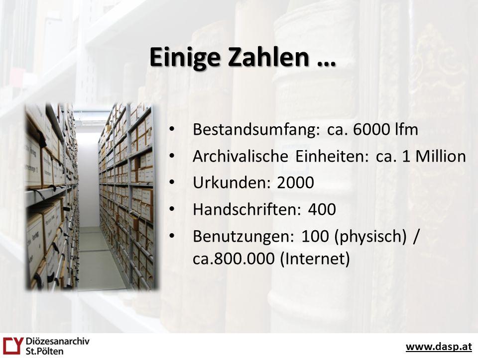 www.dasp.at Bestandsumfang: ca. 6000 lfm Archivalische Einheiten: ca.