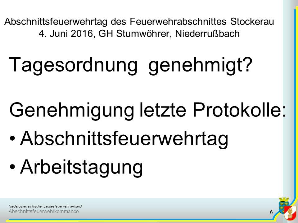 Niederösterreichischer Landesfeuerwehrverband Abschnittsfeuerwehrkommando Abschnittsfeuerwehrtag des Feuerwehrabschnittes Stockerau 4.