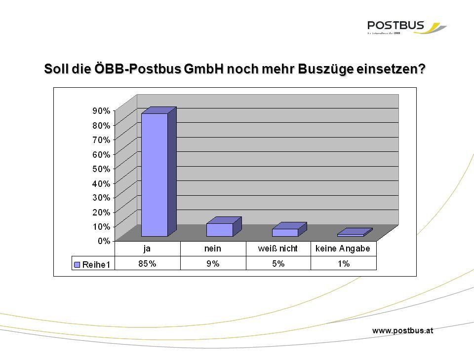Soll die ÖBB-Postbus GmbH noch mehr Buszüge einsetzen