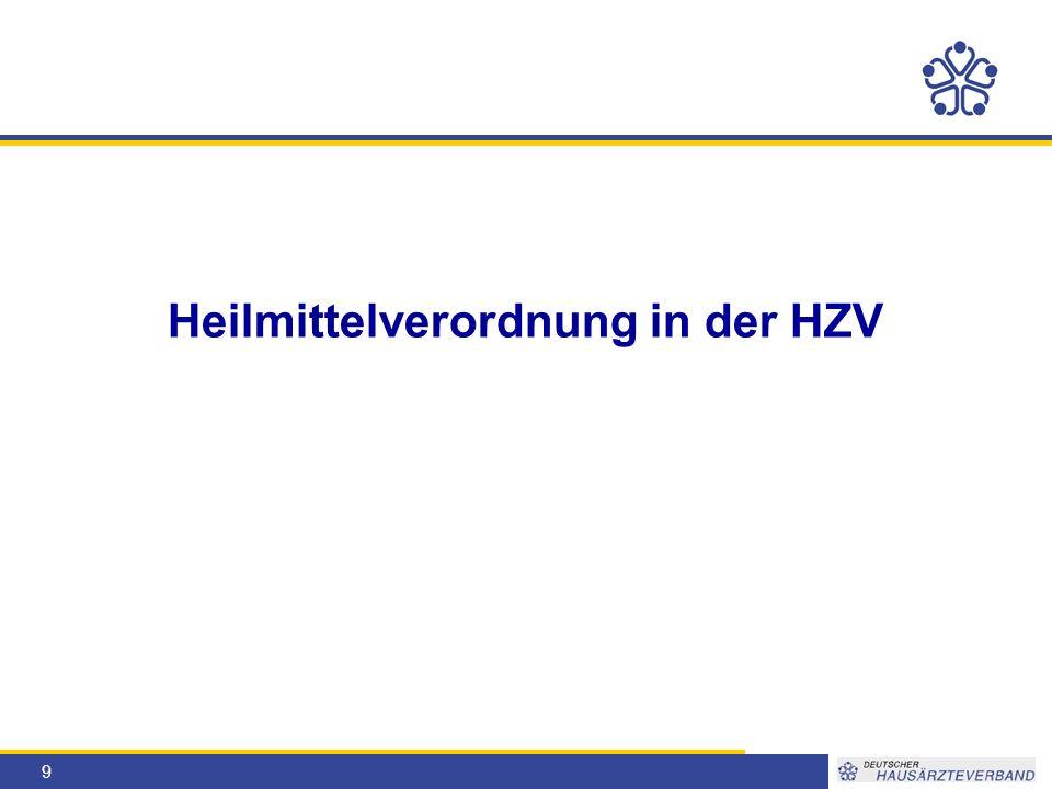 9 Heilmittelverordnung in der HZV