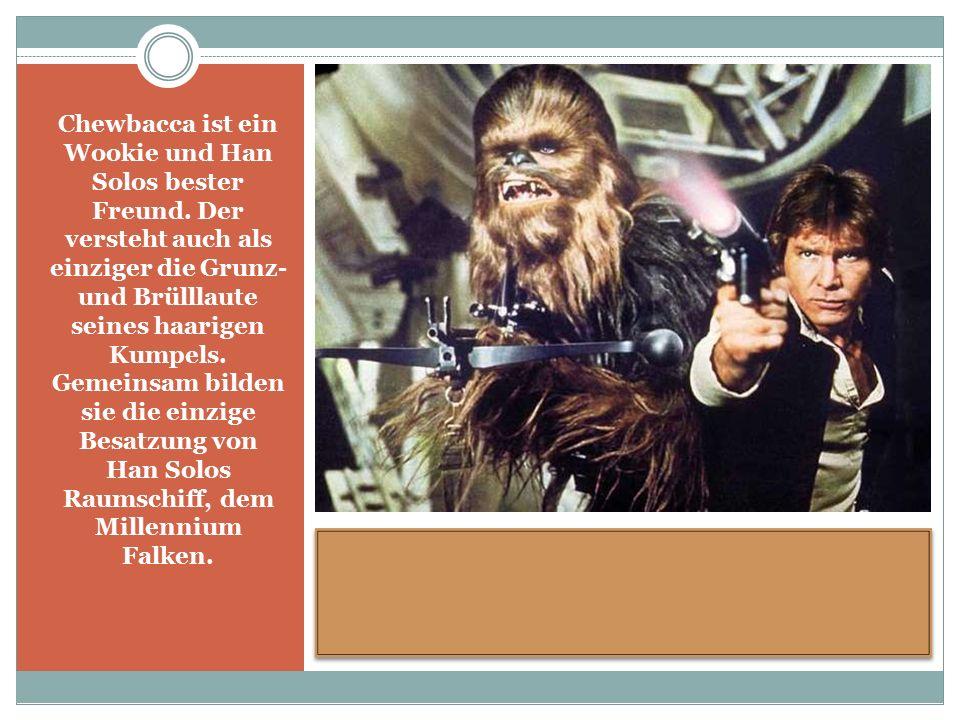 Chewbacca ist ein Wookie und Han Solos bester Freund.