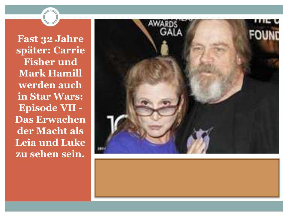 Fast 32 Jahre später: Carrie Fisher und Mark Hamill werden auch in Star Wars: Episode VII - Das Erwachen der Macht als Leia und Luke zu sehen sein.