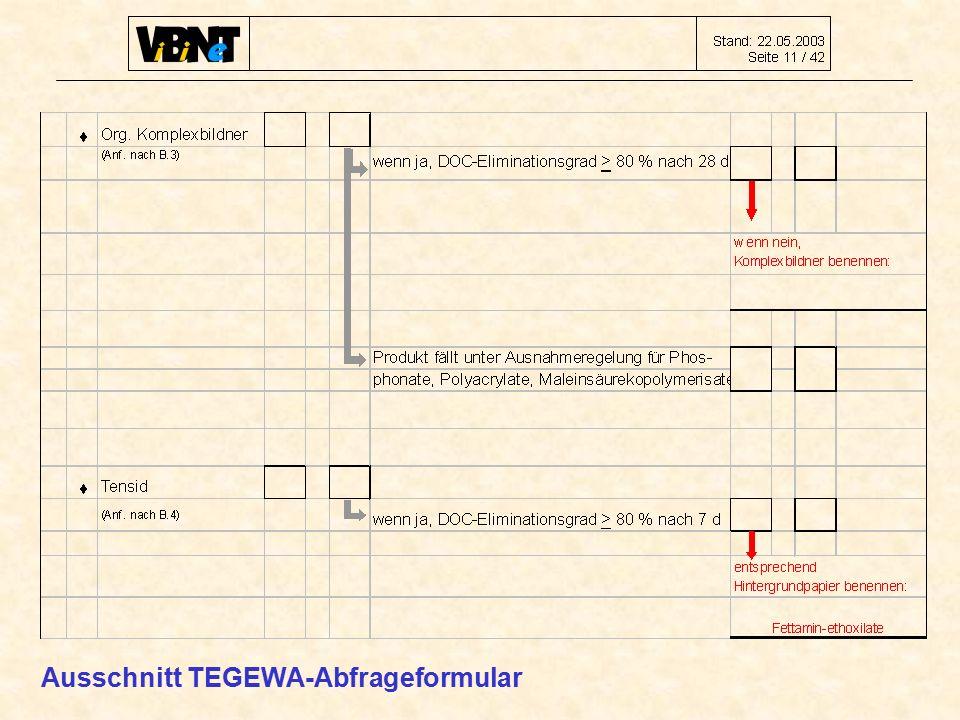 Ausschnitt TEGEWA-Abfrageformular