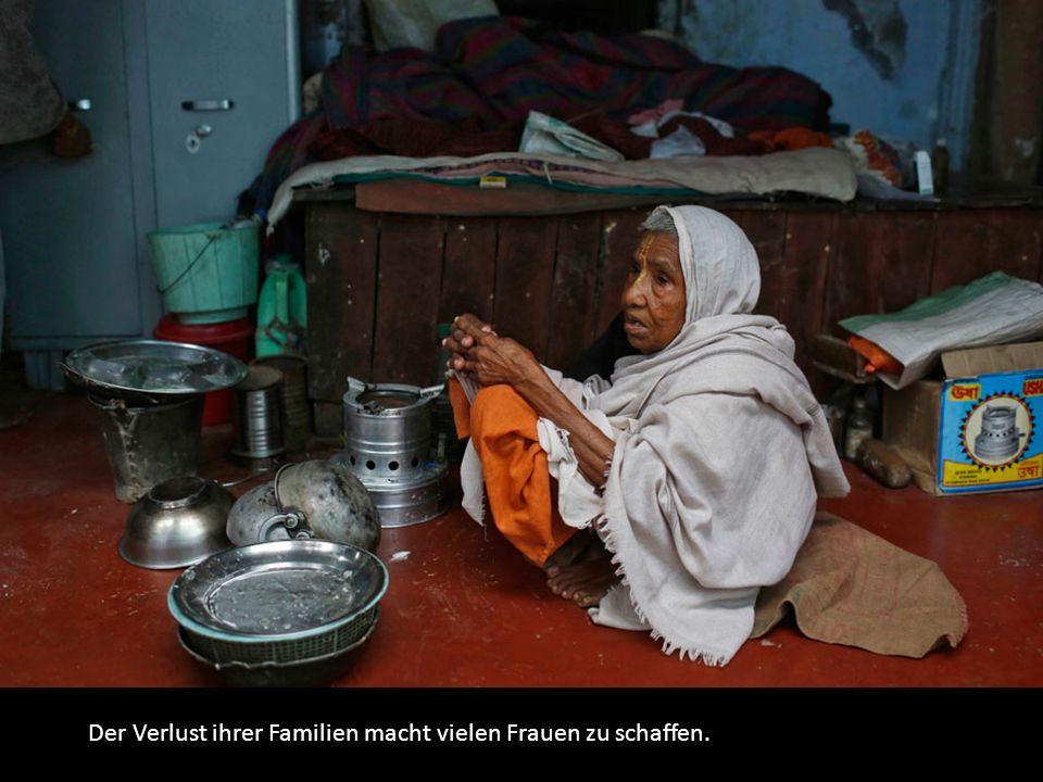 Der Verlust ihrer Familien macht vielen Frauen zu schaffen.