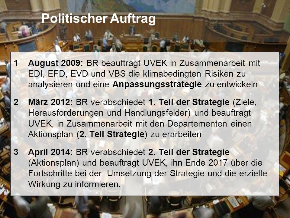 6 Anpassung an den Klimawandel in der Schweiz Roland Hohmann, BAFU Verankerung im CO 2 -Gesetz Art.