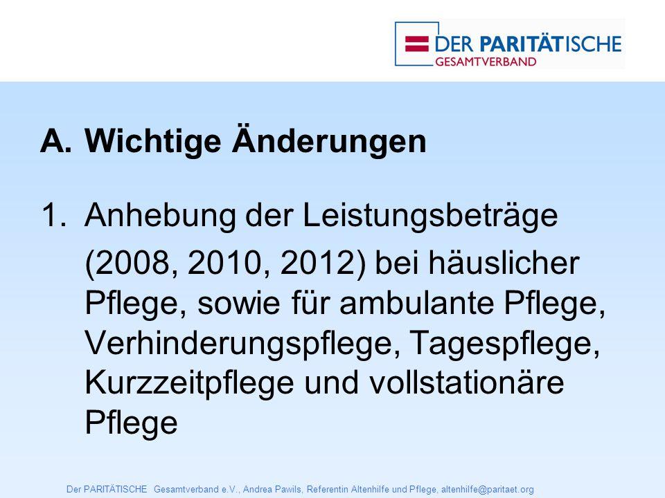 Der PARITÄTISCHE Gesamtverband e.V., Andrea Pawils, Referentin Altenhilfe und Pflege, altenhilfe@paritaet.org 2.