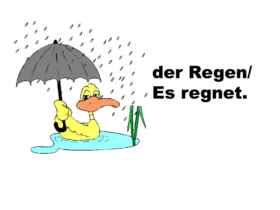 der Regen/ Es regnet.