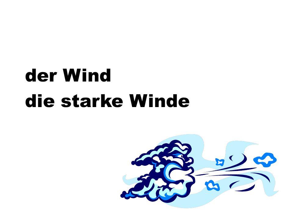 der Wind die starke Winde