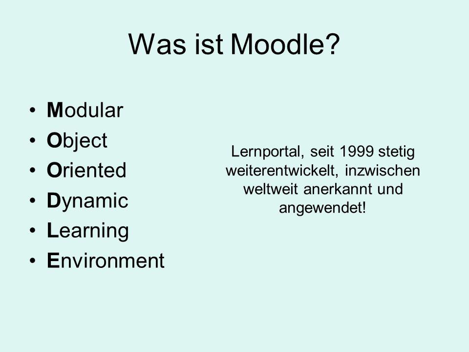 Was können Sie mit Moodle tun? Das Moodle 1.8 Praxisbuch, S. 39