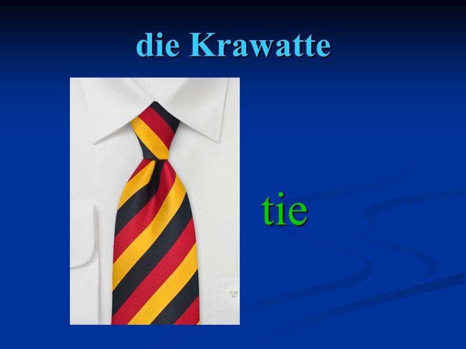 die Krawatte tie