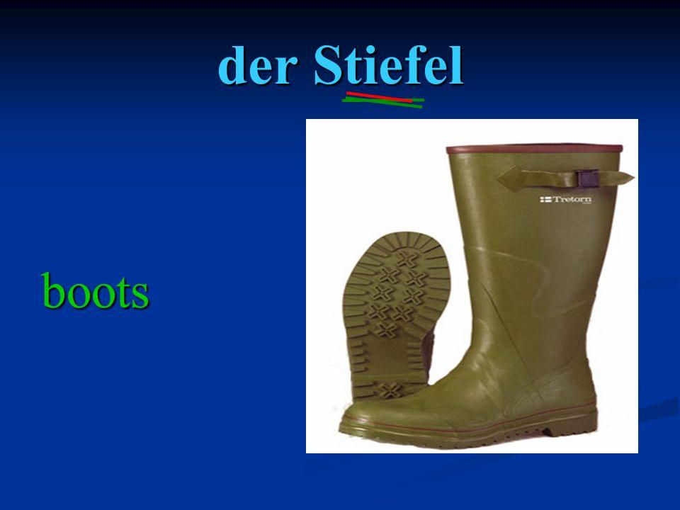 der Stiefel boots