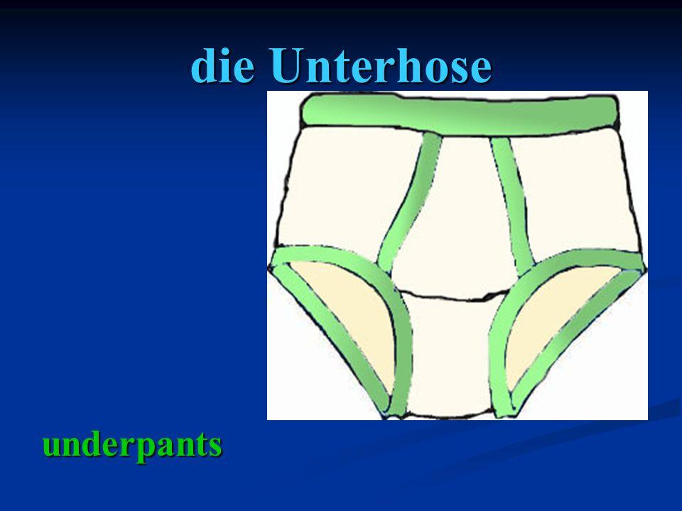 die Unterhose underpants