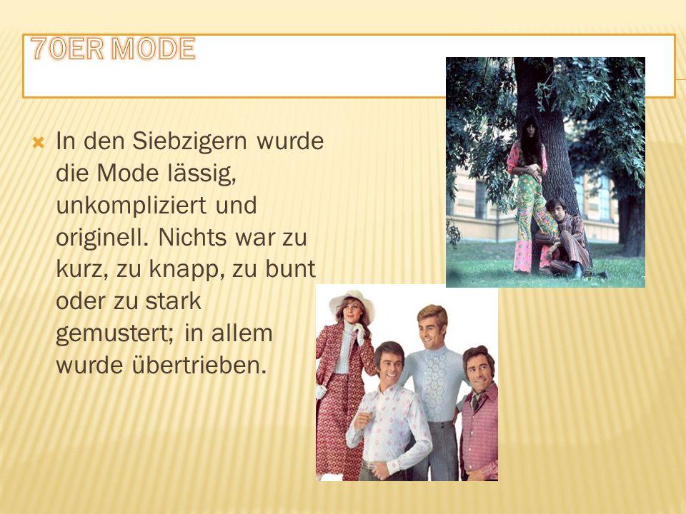 IIn den Siebzigern wurde die Mode lässig, unkompliziert und originell.